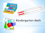 Fairfield Public Schools Mathematics Curriculum Grade K