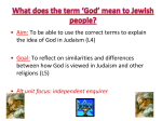 What does *God* mean to Jewish people?