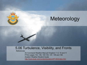 5.06 Turbulence, Visibility and Fronts