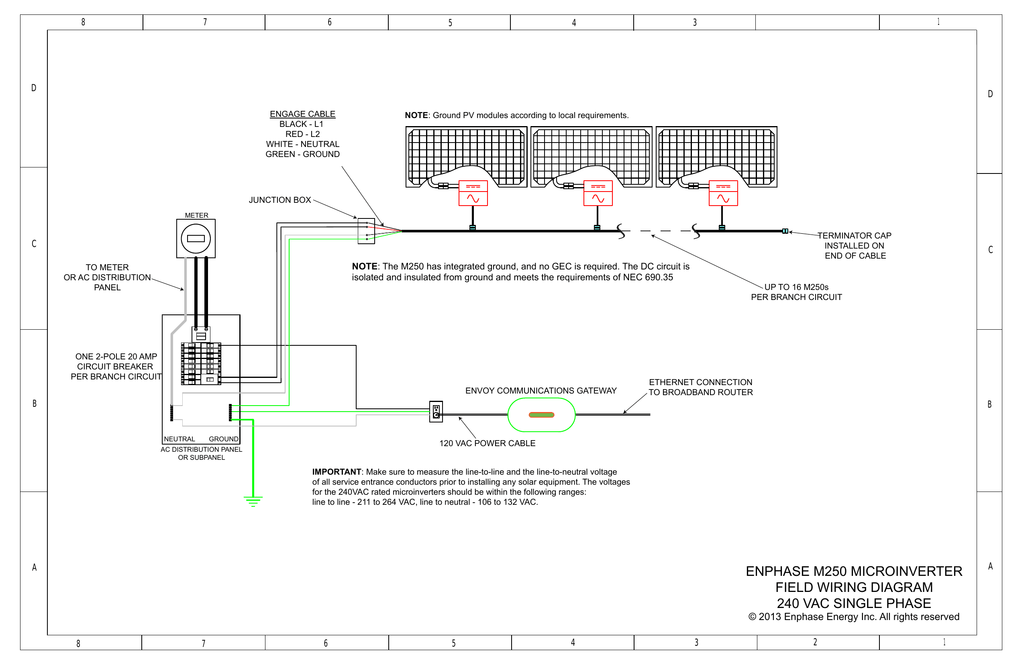enphase m250 microinverter field wiring diagram 240 vac single on