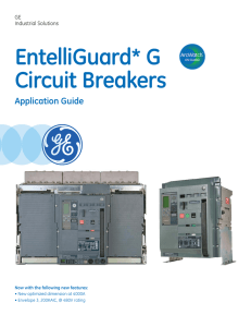 EntelliGuard G Circuit Breaker Application Guide