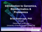 Introduction to Genomics, Bioinformatics - UNC