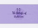 5-2: The Beliefs of Judaism