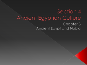 Section 4 Ancient Egyptian Culture