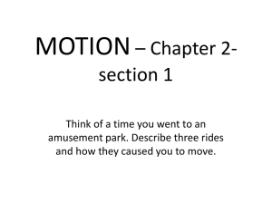 Motion with a constant speed - St. Thomas the Apostle School