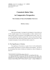 Canonical Jātaka Tales in Comparative Perspective