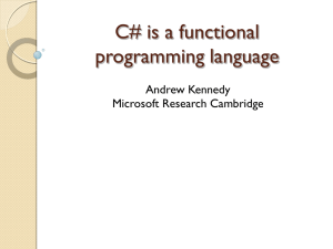 C# is a functional programming language