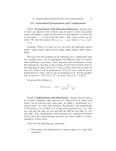 5.3. Generalized Permutations and Combinations 5.3.1