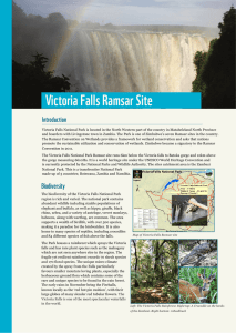 Victoria Falls Ramsar Site - Environmental Management Agency