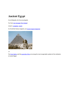 Main article: Art of Ancient Egypt
