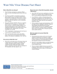 West Nile Encephalitis Fact Sheet