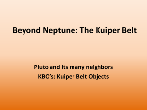Beyond Neptune: The Kuiper Belt