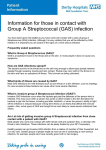 Group A Streptococcal infections - Derby Hospitals NHS Foundation