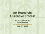 Art Research: A Creative Process