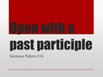 Open with a past participle