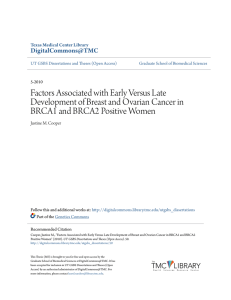 Factors Associated with Early Versus Late Development of Breast