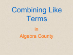 2.3 combining like terms powerpoint