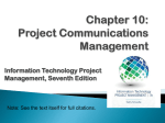 Project Communications Management Summary