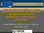 Use of AMR Surveillance Data to Develop Infectious Diseases