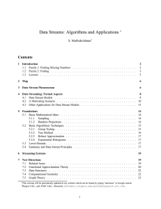 Data Streams: Algorithms and Applications