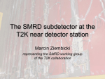 The SMRD subdetector at the T2K near detection station