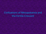 Civilizations of Mesopotamia and the Fertile Crescent