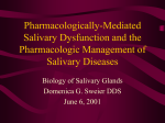 Pharmacologically-Mediated Salivary Dysfunction and the