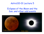 Astro110-01 Lecture 5 Eclipses of the Moon and the Sun, and other