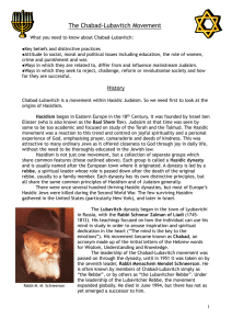 The Chabad-Lubavitch Movement