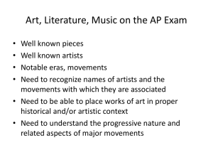 Art, Literature, Music on the AP Exam