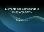 Elements and compounds in living organisms