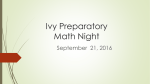 Ivy Preperatory Math Night