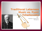 Traditional Lebanese Music vs. Pyotr Tchaikovsky