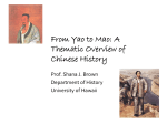 From Yao to Mao: A Thematic Overview of Chinese History