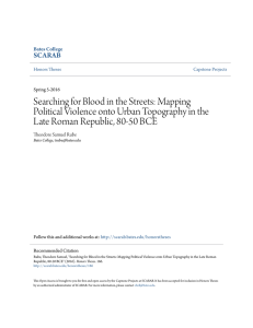 Searching for Blood in the Streets: Mapping