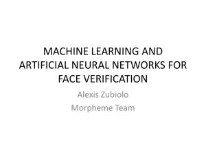 machine learning and artificial neural networks for face