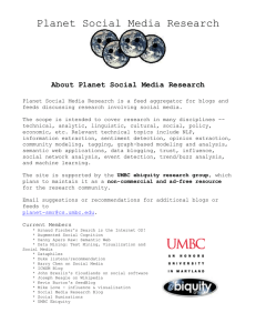 Planet Social Media Research - UMBC ebiquity research group