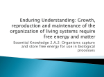 Enduring Understanding: Growth, reproduction and maintenance of