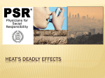 Heat`s Deadly Effects - Physicians for Social Responsibility