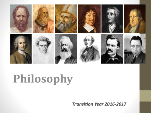 Transition Year Philosophy