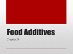 Food Additives power point Chapter 24