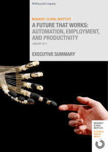 a future that works: automation, employment, and