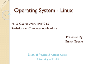 Operating System - Linux - Home Pages of People@DU