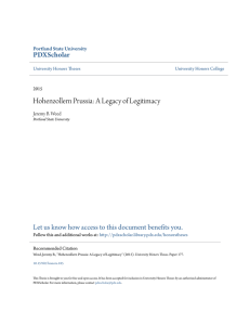 Hohenzollern Prussia: A Legacy of Legitimacy