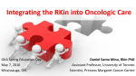 Integrating the RKin into Oncologic Care