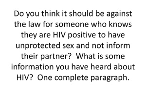 HIV-AIDS powerpoint