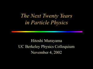 Particle Physics Matter, Energy, Space, Time