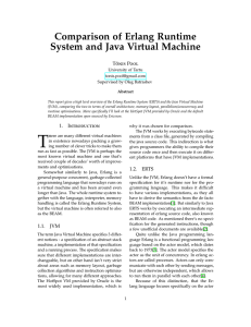 Comparison of Erlang Runtime System and Java Virtual Machine