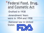 Federal Food, Drug, and Cosmetic Act (1938)