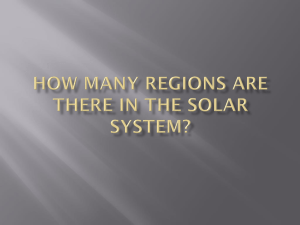 How Many Regions Are There In The Solar System?